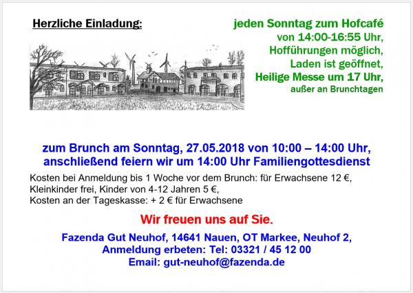 Brunch in Gut Neuhof