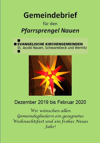 Gemeindebrief Dezember 2019 - Februar 2020